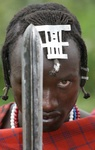 Maasai and spear
