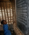 Maasai child counting