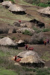 maasai village over