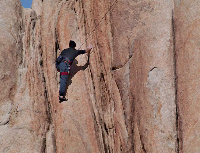 Joshua Tree climber 1