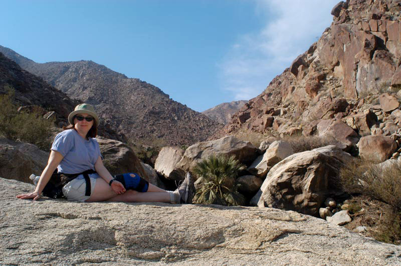 MK taking a break in Anza-Borrego desert