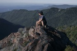Charlie's Bunion, Appalachian Trail hiker